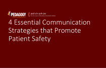 4 Essential Communication Strategies that Promote Patient Safety