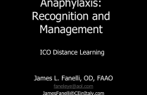 Anaphylaxis Recognition and Management