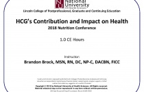 HCG's Contribution and Impact on Health