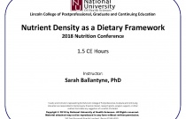 Nutrient Density as a Dietary Framework