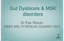 Gut Dysbiosis and MSK symptoms