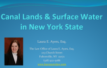 Canal Lands and Surface Water in New York State