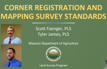 Corner Registration and Mapping Survey Standards in Missouri