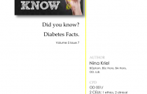 DIABETES DID YOU KNOW? Volume 5 Issue 7 (ODO001/005/11/2017) CEU'S : 2