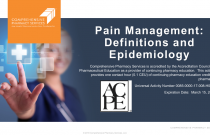 Pain Management: Definitions & Epidemiology