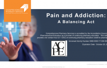 Pain and Addiction: A Balancing Act