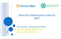 An Updated Definition for Dyslexia 2017