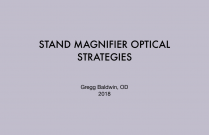 Stand Magnifier Optical Strategies