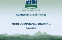 etHIN Compliance Training - August 2018