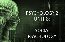 PSYCHOLOGY 2 UNIT 8: SOCIAL PSYCHOLOGY