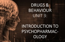 DRUGS & BEHAVIOUR UNIT 3: INTRODUCTION TO PSYCHOPHARMACOLOGY