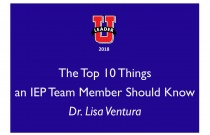 Top 10 Things an IEP Team Member Should Know