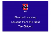 Blended Learning: Lessons from the Field