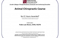 Animal Chiropractic Course at National
