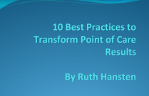 10 Best Practices to Transform Point of Care Results