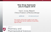 New Drug Update - July/August 2018