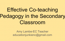 Effective Co-teaching Pedagogy in the Secondary Classroom