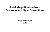 Axial Magnification from Distance and Near Corrections