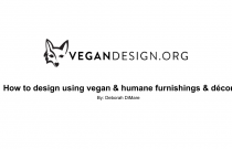 How To Design Using Vegan & Humane Furnishings & Décor