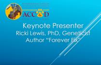 "ACC&D's 6th International Symposium: Keynote Address, ""A Forever Fix"""