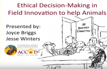 ACC&D's 6th International Symposium: Ethical decision-making in field innovation to help animals