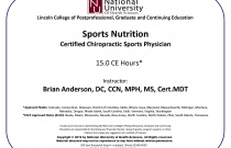 Sports Nutrition - Certified Chiropractic Sports Physician CCSP®