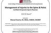 Management of Injuries to the Spine and Pelvis - Certified Chiropractic Sports Physician CCSP®