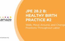 JPE 28.2 B: Healthy Birth Practice #2 - Walk, Move Around, and Change Positions Throughout Labor