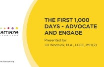 Webinar: The First 1,000 Days - Advocate and Engage