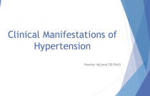 Clinical Manifestations of Hypertension