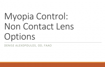Myopia Control: Non Contact Lens Options