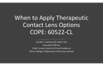 When to Apply Therapeutic Contact Lens Options