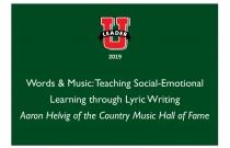 Words & Music: Teaching Social-Emotional Learning through Lyric Writing