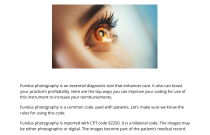 Coding for Fundus Photography: How to Enhance Your Reimbursements
