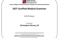 DOT Certified Medical Examiner
