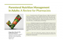 Parenteral Nutrition Management in Adults: A Review for Pharmacists