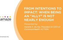 "Webinar: From Intentions to Impact: When Being an ""Ally"" is Not Nearly Enough"