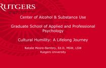 Cultural Humility: A Lifelong Journey