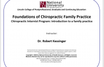 Foundations of Chiropractic Family Practice [DABCI Module 1]