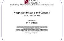 Neoplastic Disease and Cancer II [DABCI #23]