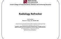 Radiology Refresher