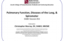 Pulmonary Function, Diseases of the Lung, & Spirometer [DABCI 15] Session #1014