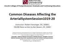 Common Diseases affecting the Arterial Disease 14 [DABCI 1019-1020]