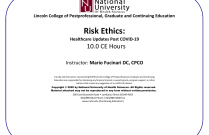 Risk Ethics: Healthcare Updates Post COVID-19