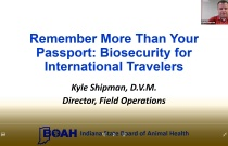 Remember More than Your Passport: Biosecurity for International Travelers
