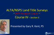 ALTA/NSPS 2021 Standards (Course 4) – Fieldwork