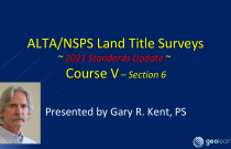 ALTA/NSPS 2021 Standards (Course 5) – Creation of the Plat or Map
