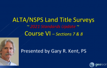 ALTA/NSPS 2021 Standards (Course 6) – Certification and Deliverables
