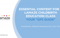"""Essential Content for a Lamaze Childbirth Education Class - Your """"GPS Guide"""""""