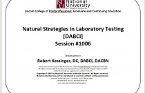 Natural Strategies in Laboratory Testing [DABCI] 1006